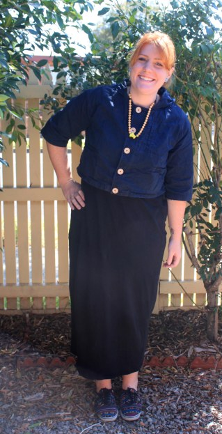 I love this Black Cheap Monday Maxi dress, and Crop Top by Princess Highway combo. Paired with a set of Vans and a Wooden Necklace and I'm off for the day in my inbetweenie attire.